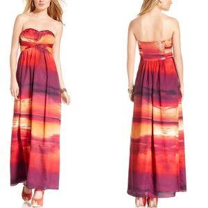 Jessica Simpson Stretch Strappless Maxi Dress
